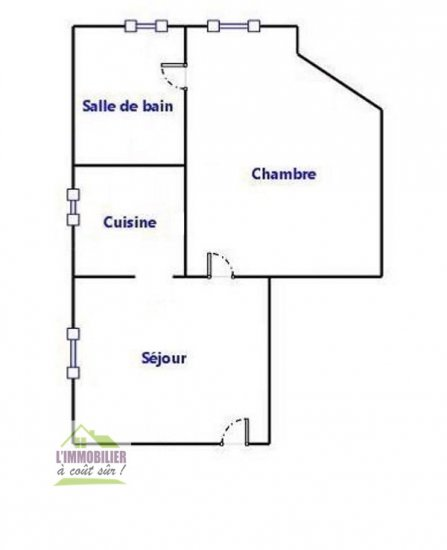 Appartement Studio Vendu à Brunoy 64 900 € H.A.I - Exclusivité -